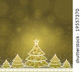 christmas card with forest of... | Shutterstock .eps vector #19557370
