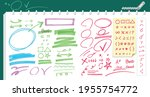 make a check mark and underline.... | Shutterstock .eps vector #1955754772
