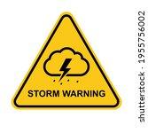 storm warning. yellow warning... | Shutterstock .eps vector #1955756002