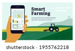 smart farming layout template.... | Shutterstock .eps vector #1955762218