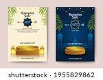 ramadan template background.... | Shutterstock .eps vector #1955829862