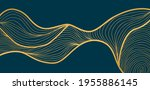gold luxury line art background ... | Shutterstock .eps vector #1955886145