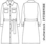 Women's Pocket Detail  Belted...