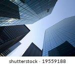 high modern skyscraper on a... | Shutterstock . vector #19559188