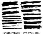 brush strokes bundle. vector... | Shutterstock .eps vector #1955933188