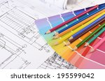 projects of houses with a color ... | Shutterstock . vector #195599042