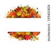 happy thanksgiving day... | Shutterstock .eps vector #195601826