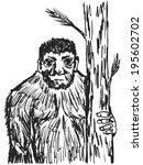 hand drawn  sketch  cartoon... | Shutterstock .eps vector #195602702