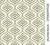 vintage vector damask pattern... | Shutterstock .eps vector #1956049528