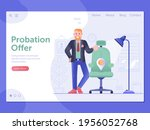 job offer web banner with...