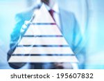 hierarchy on needs pyramid... | Shutterstock . vector #195607832