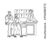 at hotel reception registering... | Shutterstock .eps vector #1956080572