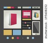 web site flat design template....