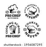 set of logo badge hat chef in...   Shutterstock .eps vector #1956087295