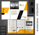 geometric vector brochure... | Shutterstock .eps vector #195610445