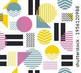 colorful geometric shape... | Shutterstock .eps vector #1956120988