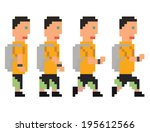 raster illustration   pixel art ... | Shutterstock . vector #195612566