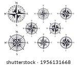 Retro Compass. Wind Rose...