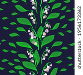 pattern flowers lilies of the...   Shutterstock .eps vector #1956173362