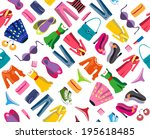 clothing   vector seamless... | Shutterstock .eps vector #195618485