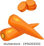 the cartoon style of carrots... | Shutterstock .eps vector #1956203332