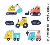cute cartoon cars   truck ... | Shutterstock .eps vector #1956210838
