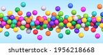 colorful flying balls. many... | Shutterstock .eps vector #1956218668