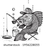 A Fish With A Cap And A Smoking ...