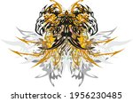 eagle butterfly wings with... | Shutterstock .eps vector #1956230485