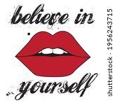 believe in yourself slogan with ...   Shutterstock .eps vector #1956243715