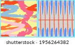 set of vector seamless patterns.... | Shutterstock .eps vector #1956264382