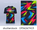 fabric textile for sport t... | Shutterstock .eps vector #1956267415