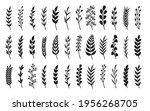 curved black silhouette laurel... | Shutterstock .eps vector #1956268705