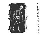 skeleton bones and human... | Shutterstock . vector #1956277315