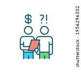 debt collector rgb color icon.... | Shutterstock .eps vector #1956296332