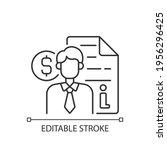 broker consultation linear icon.... | Shutterstock .eps vector #1956296425