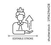 power broker linear icon.... | Shutterstock .eps vector #1956296428