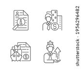 brokerage linear icons set.... | Shutterstock .eps vector #1956296482