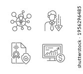 brokerage service linear icons... | Shutterstock .eps vector #1956296485