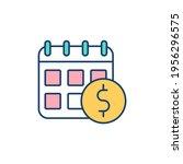 annual income rgb color icon.... | Shutterstock .eps vector #1956296575