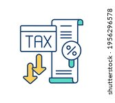 low tax rate rgb color icon.... | Shutterstock .eps vector #1956296578