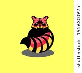 icon animals of raccon vector... | Shutterstock .eps vector #1956300925
