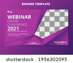 webinar banner invitation... | Shutterstock .eps vector #1956302095
