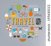 travel illustration | Shutterstock .eps vector #195630212