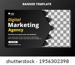 web banner digital marketing... | Shutterstock .eps vector #1956302398