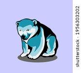icon animlas of polars bear... | Shutterstock .eps vector #1956303202