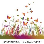 Floral Colorful Background With ...