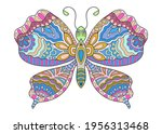 decorative ornate butterfly ... | Shutterstock .eps vector #1956313468