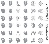 mindset icons. gray flat design.... | Shutterstock .eps vector #1956328675