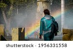 Rainbow Is Reflected In The...